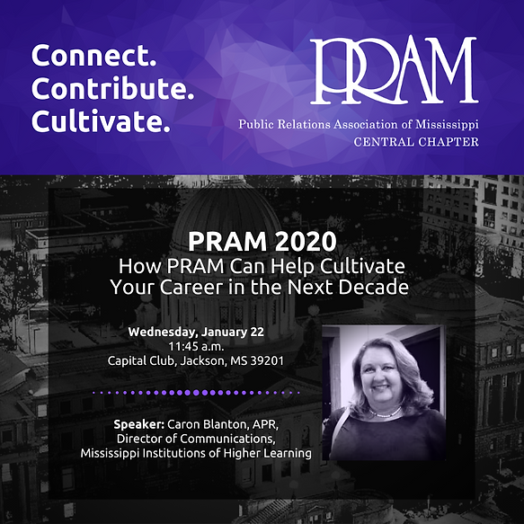 PRAM Central 2020 January Monthly Meetin