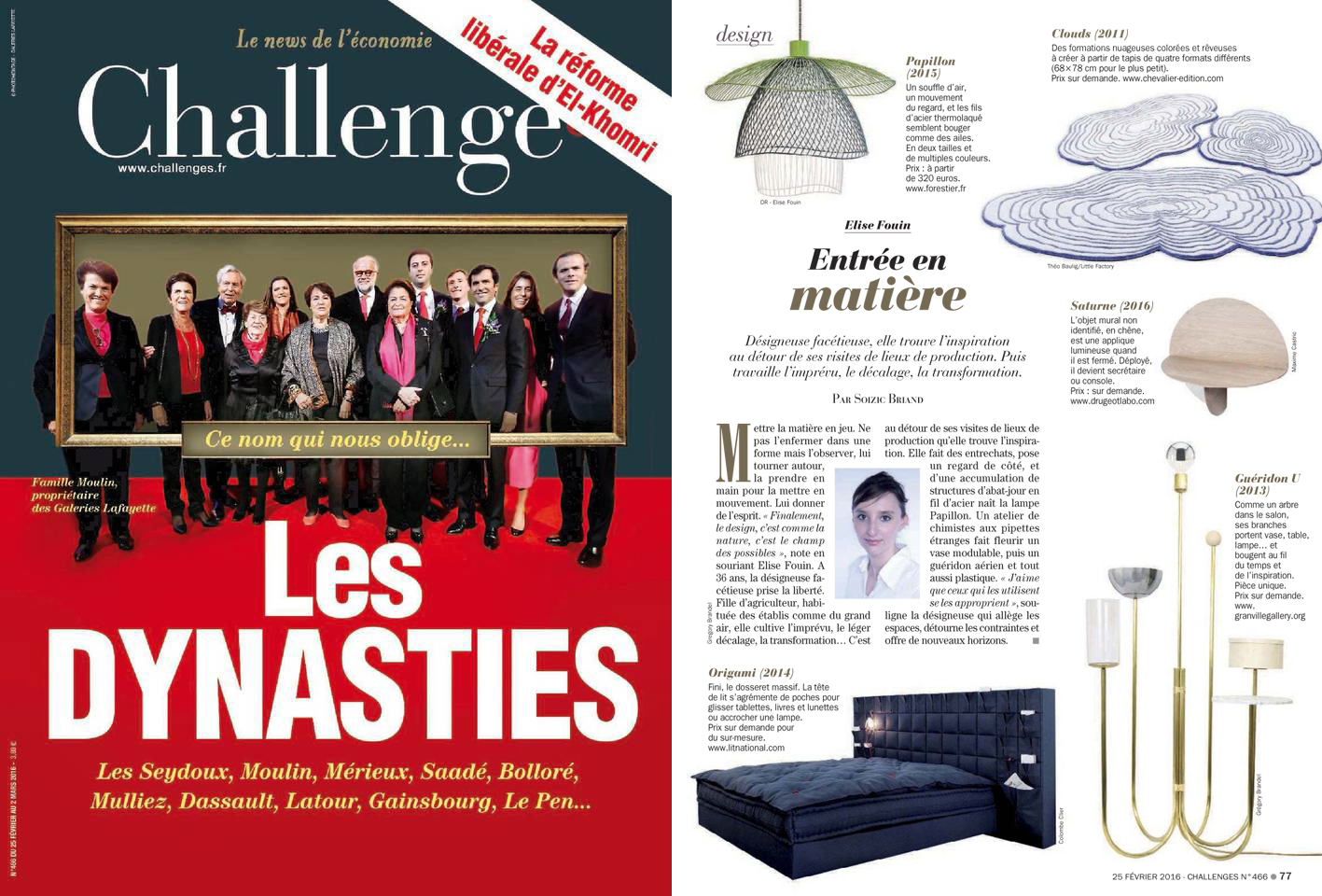 challenges 25 fevreir 2016