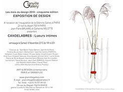 Elise Fouin Exposition Candélabre Lumière Intime Granville Gallery Paris 2010