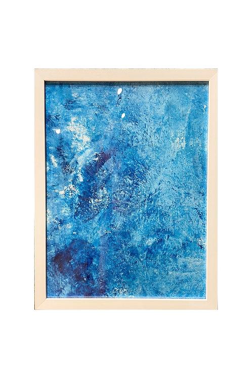 Innrammet Blue based