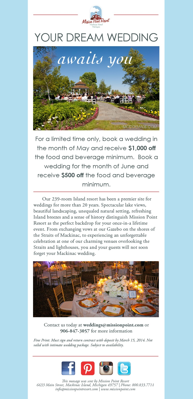 Weddings E-mail Blast
