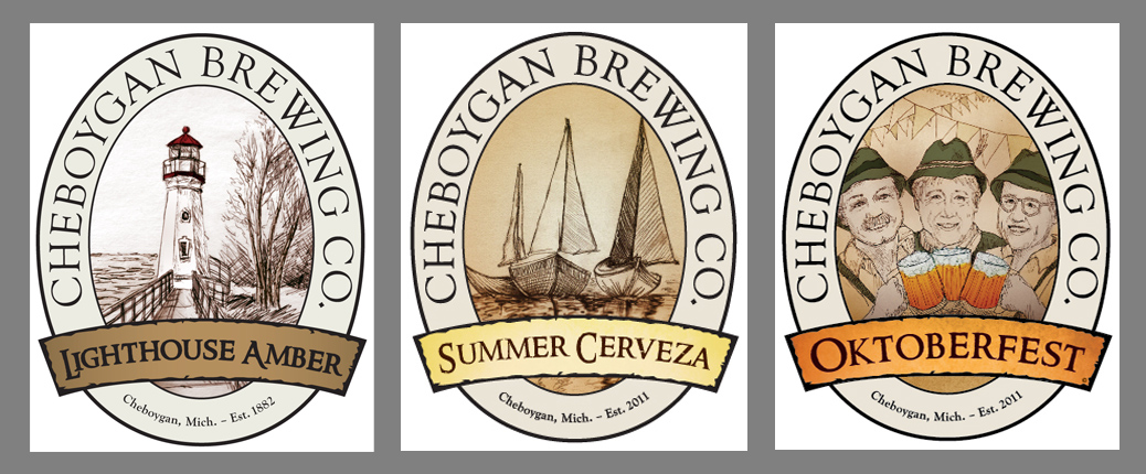 Cheboygan Brewing Illustrations