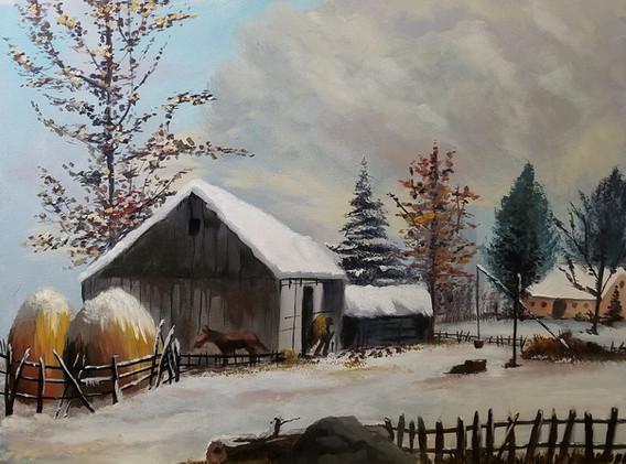 Farmyard in Winter