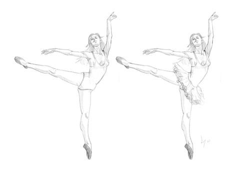 Ballerina warmup sketch for Mdel