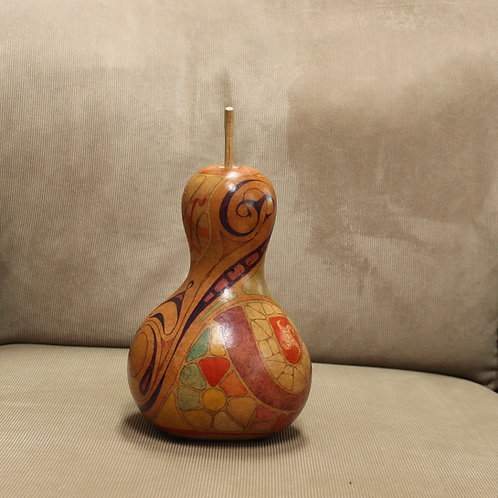 Abstract Shapes Small Hardshell Bottle Body Gourd