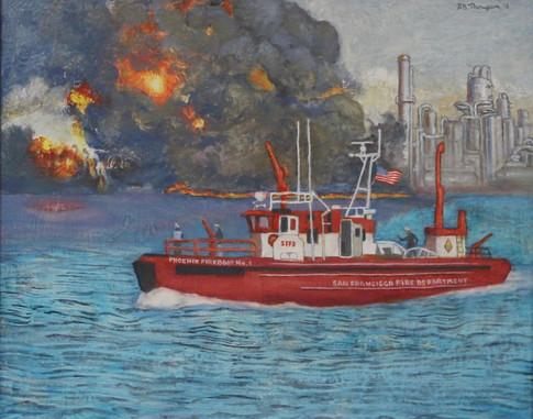 Fireboat Phoenix-Acrylic