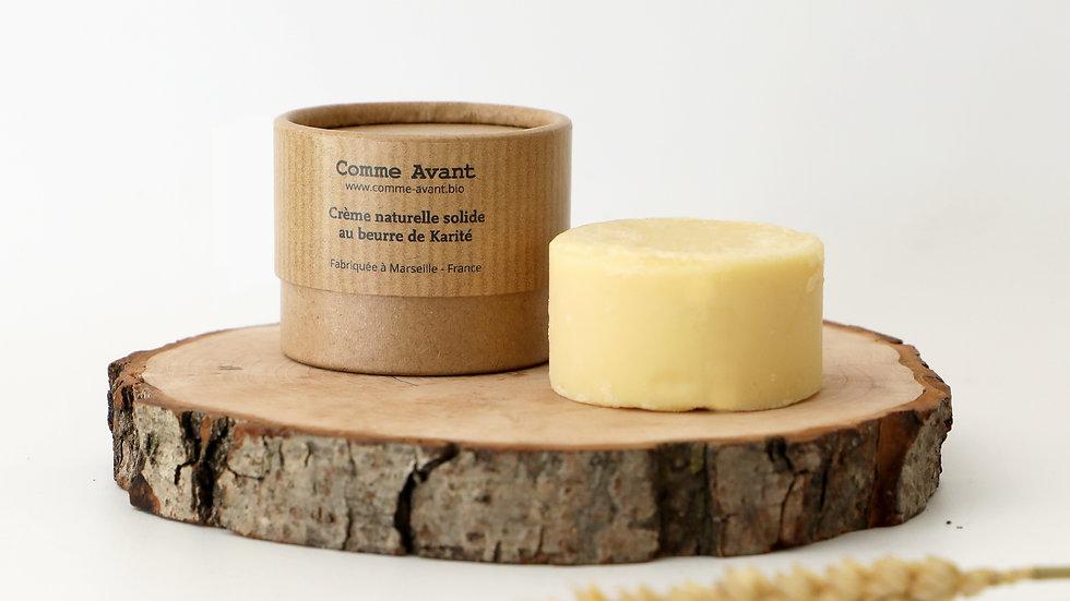 Crème Naturelle Solide au beurre de Karité