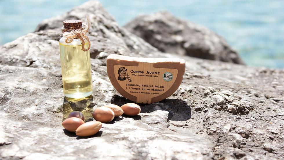 Shampoing Naturel Solide à l'Argan et au Rhassoul