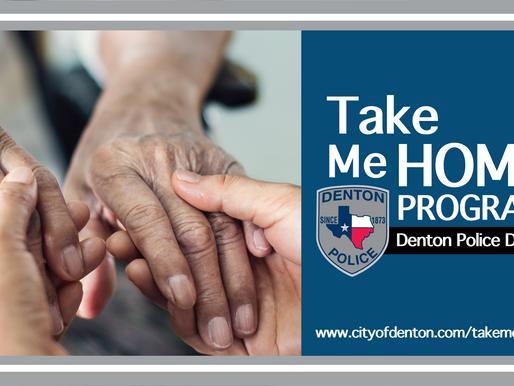 Denton Police Launch Take Me Home Program
