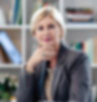 Mujer de negocios, en, oficina