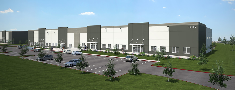 Rendering of a Large Commercial Exterior