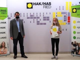 Zweifache Auszeichnung der Österr. Nationalbank für die HAK Ried