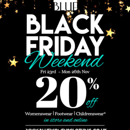 Blue Black Friday Weekend
