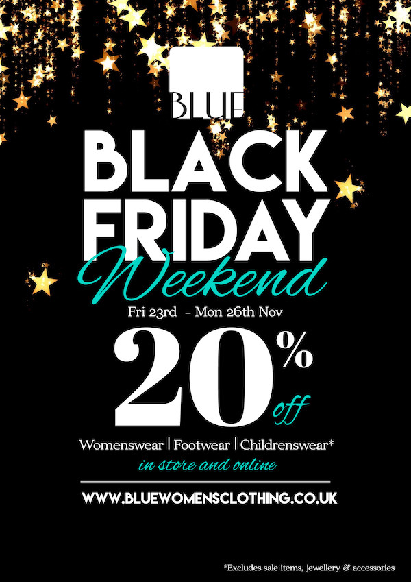 Shop Online at Blue with Black Friday Discounts