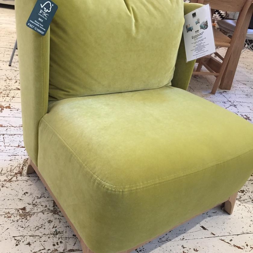Lime Green Velvet, Furniture at Blue Home, The Loft Bath