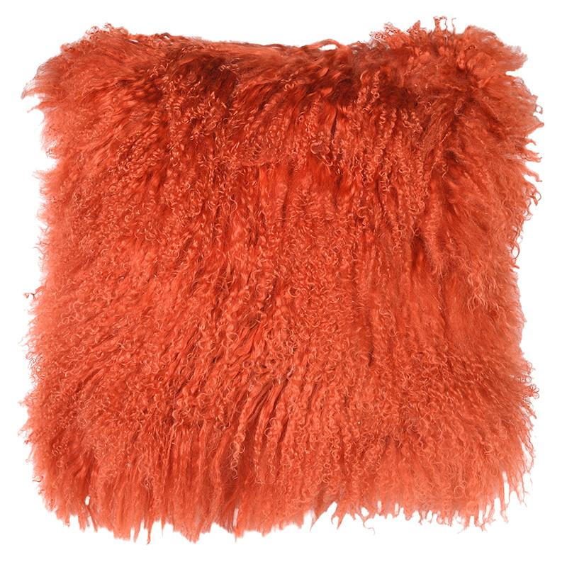 Orange Furry Cushion at Blue Home. The Loft.