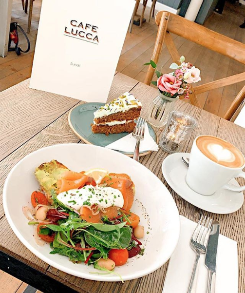 Salmon and Avocado at Cafe Lucca, The Loft, Bath