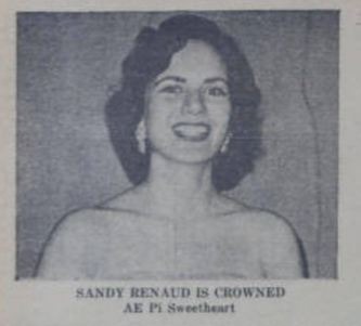 April 1, 1956 Sandy Renaud Sweetheart.pn