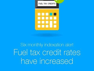The fuel tax credit rate increased on 2 February