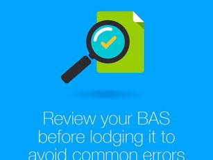 Common BAS Errors: