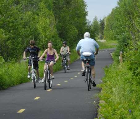 70 km de piste cyclable à  8 min.
