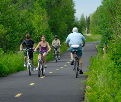 70 km of bicycle path at 8 min.