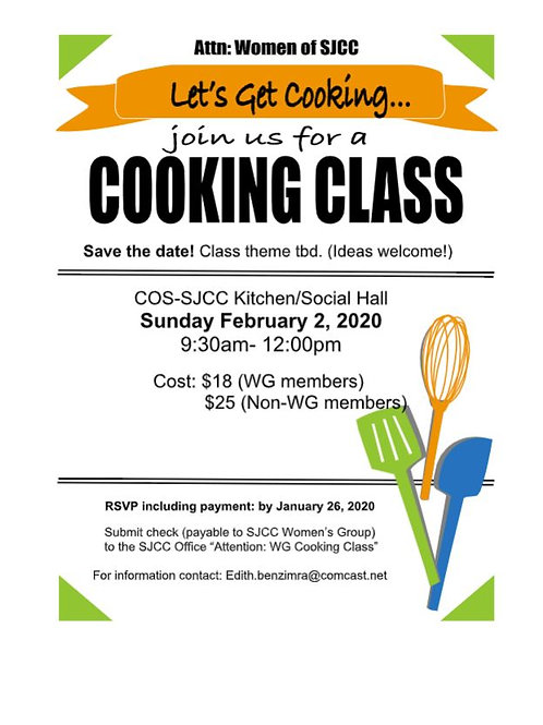 Women's Group Cooking Class: Paid member tkt