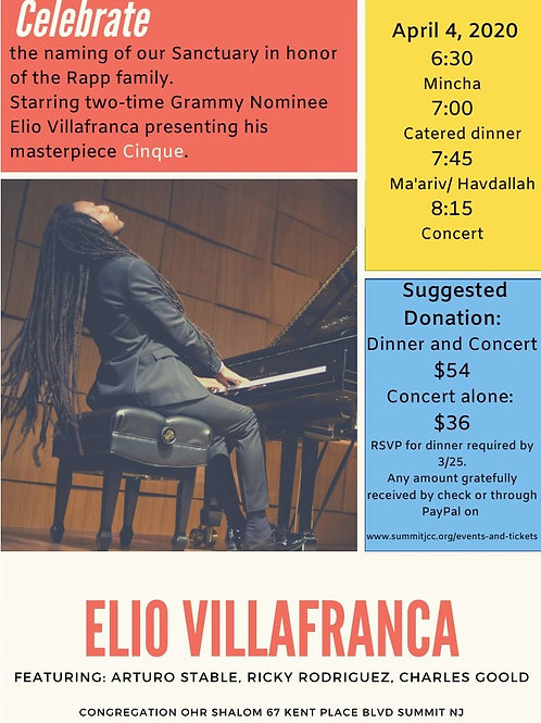 Elio Villafranca Concert & Dinner