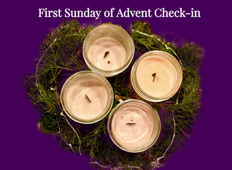 First Sunday of Advent Check-in