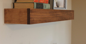 Protect Your Valuables with these DIY Floating Shelves with Hidden Storage