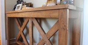 DIY Farmhouse Console Table and Bench Combo