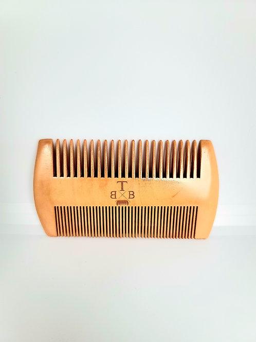 100% Peachwood Dual-Sided Comb
