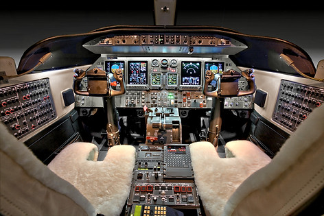 King Air 350 Crew Area