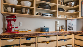 Custom Pantry With Live-Edge Wood