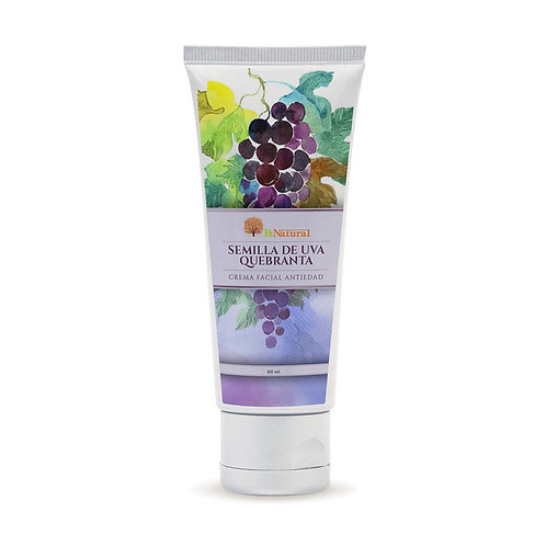 Crema Facial Antiarrugas Semilla de Uva Quebranta 60 Gr