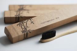 Бамбукова зубна щітка