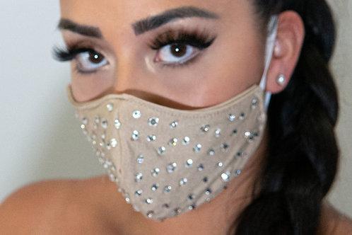 Rhinestone facemask