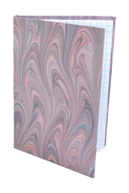 "4x6"" Sticky-Note Folio in Violet French Marble"
