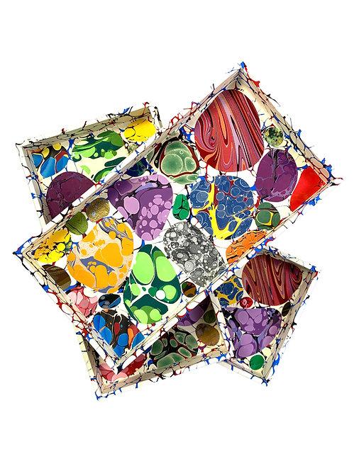 Wooden Specimen Tray Nº 1, Pebble Mosaic on Cream