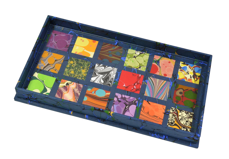 Specimen Tray Nº 2, Square Mosaic on Blue