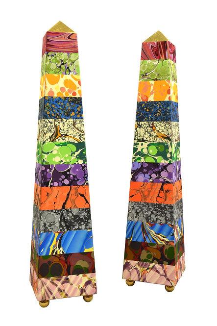 Specimen Stripe Obelisks
