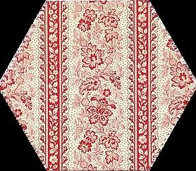 Red Floral Stripe Fine Italian Print Paper