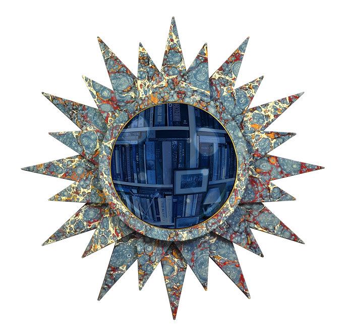 Convex Mirror Nº 2, Indigo Speckle