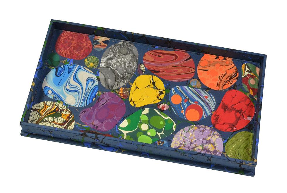 Specimen Tray Nº 1, Pebble Mosaic on Blue