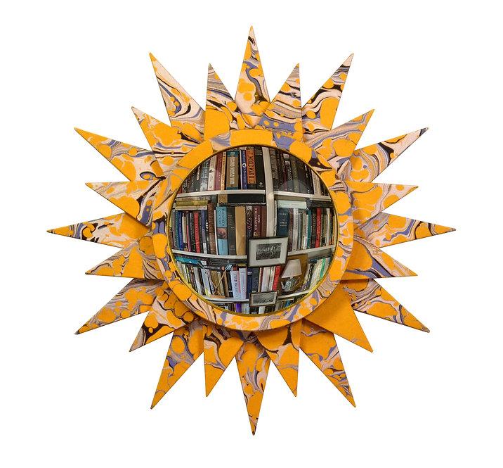 Convex Mirror Nº 2, Gold Swirl