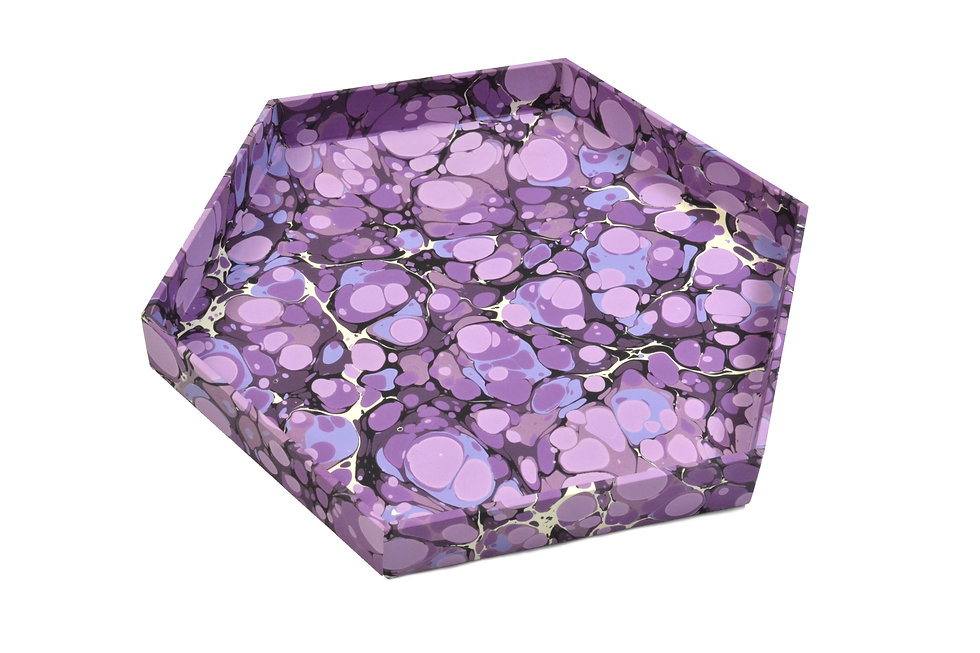 """8"""" Honeycomb Tray in Amethyst Marble"""