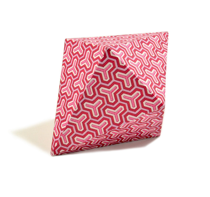 "7"" Dodecahedron Object Paperweight in Pink Geometric"
