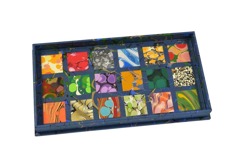 Specimen Tray Nº 2, Square Mosaic on Blue