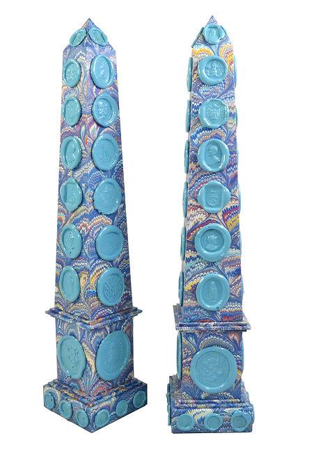 Wax Seal Obelisk in Blue