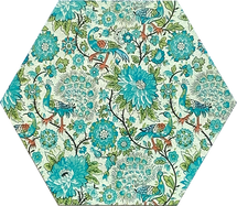 Blue-Green Floral